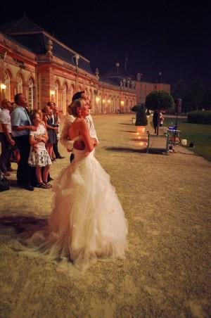 Hochzeitsfeuerwerk & Brautpaar