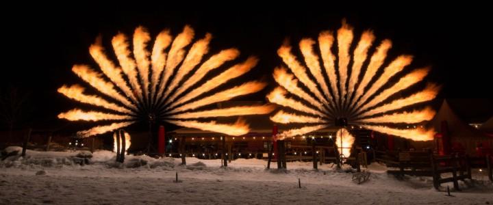 Flammenshow mit X2 Wave Flamer